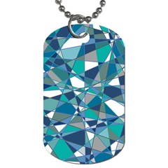 Abstract Background Blue Teal Dog Tag (one Side)