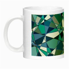 Abstract Background Blue Teal Night Luminous Mugs