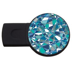 Abstract Background Blue Teal Usb Flash Drive Round (4 Gb)