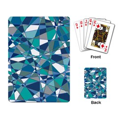 Abstract Background Blue Teal Playing Card
