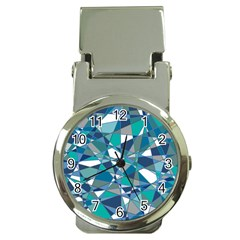 Abstract Background Blue Teal Money Clip Watches
