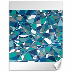 Abstract Background Blue Teal Canvas 12  X 16