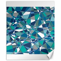 Abstract Background Blue Teal Canvas 16  X 20