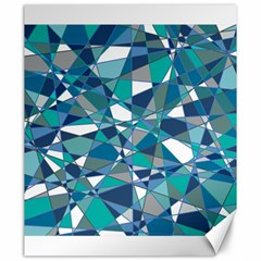 Abstract Background Blue Teal Canvas 20  X 24
