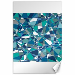Abstract Background Blue Teal Canvas 24  X 36