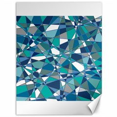 Abstract Background Blue Teal Canvas 36  X 48