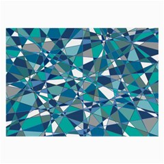 Abstract Background Blue Teal Large Glasses Cloth (2 Side)