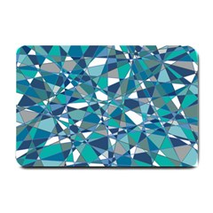 Abstract Background Blue Teal Small Doormat
