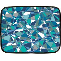 Abstract Background Blue Teal Double Sided Fleece Blanket (mini)