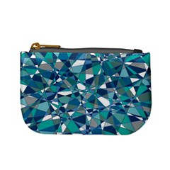Abstract Background Blue Teal Mini Coin Purses