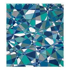 Abstract Background Blue Teal Shower Curtain 66  X 72  (large)