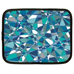 Abstract Background Blue Teal Netbook Case (xxl)