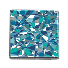 Abstract Background Blue Teal Memory Card Reader (square)