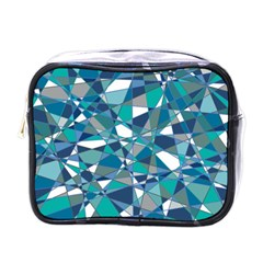 Abstract Background Blue Teal Mini Toiletries Bags