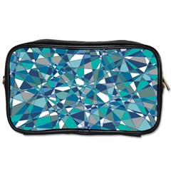 Abstract Background Blue Teal Toiletries Bags