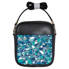Abstract Background Blue Teal Girls Sling Bags