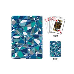 Abstract Background Blue Teal Playing Cards (mini)