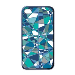 Abstract Background Blue Teal Apple Iphone 4 Case (black)