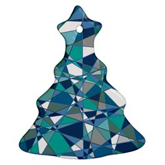Abstract Background Blue Teal Christmas Tree Ornament (two Sides)
