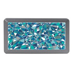Abstract Background Blue Teal Memory Card Reader (mini)