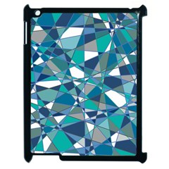 Abstract Background Blue Teal Apple Ipad 2 Case (black)