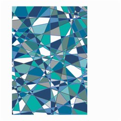 Abstract Background Blue Teal Small Garden Flag (two Sides)