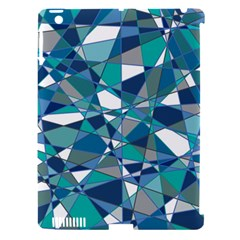 Abstract Background Blue Teal Apple Ipad 3/4 Hardshell Case (compatible With Smart Cover)