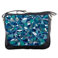 Abstract Background Blue Teal Messenger Bags