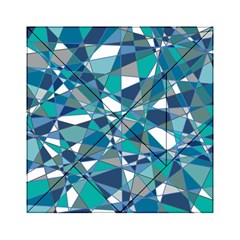 Abstract Background Blue Teal Acrylic Tangram Puzzle (6  X 6 )