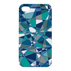 Abstract Background Blue Teal Apple Iphone 4/4s Premium Hardshell Case