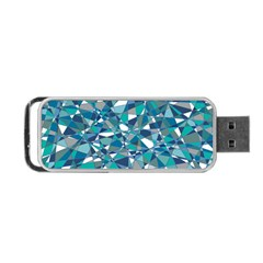 Abstract Background Blue Teal Portable Usb Flash (one Side)