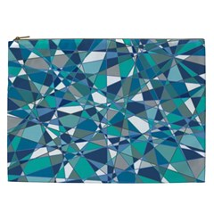 Abstract Background Blue Teal Cosmetic Bag (xxl)