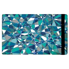 Abstract Background Blue Teal Apple Ipad 2 Flip Case