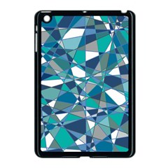 Abstract Background Blue Teal Apple Ipad Mini Case (black)