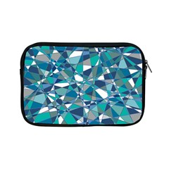 Abstract Background Blue Teal Apple Ipad Mini Zipper Cases