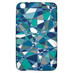 Abstract Background Blue Teal Samsung Galaxy Tab 3 (8 ) T3100 Hardshell Case