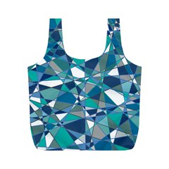 Abstract Background Blue Teal Full Print Recycle Bags (m)
