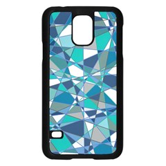 Abstract Background Blue Teal Samsung Galaxy S5 Case (black)