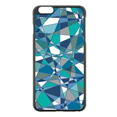 Abstract Background Blue Teal Apple Iphone 6 Plus/6s Plus Black Enamel Case