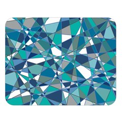 Abstract Background Blue Teal Double Sided Flano Blanket (large)