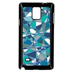 Abstract Background Blue Teal Samsung Galaxy Note 4 Case (black)