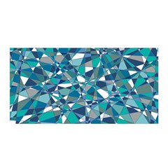 Abstract Background Blue Teal Satin Wrap