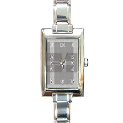 Gray Designs Transparency Square Rectangle Italian Charm Watch