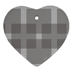 Gray Designs Transparency Square Ornament (heart)