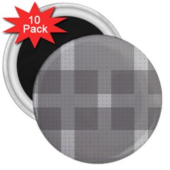 Gray Designs Transparency Square 3  Magnets (10 Pack)