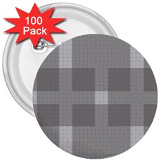 Gray Designs Transparency Square 3  Buttons (100 Pack)