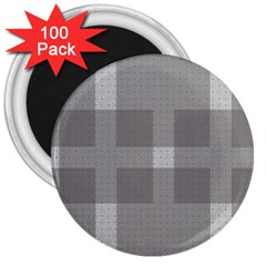 Gray Designs Transparency Square 3  Magnets (100 Pack)