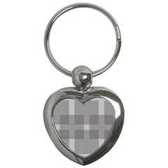 Gray Designs Transparency Square Key Chains (heart)
