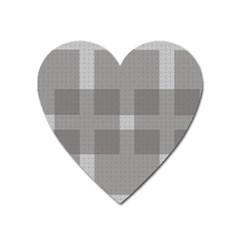 Gray Designs Transparency Square Heart Magnet