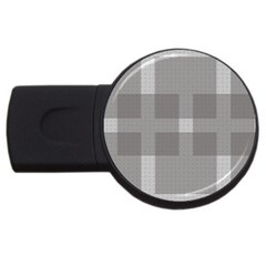 Gray Designs Transparency Square Usb Flash Drive Round (2 Gb)
